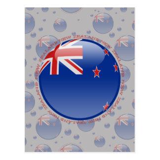New Zealand Bubble Flag Postcard