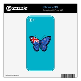 New Zealand Butterfly Flag Decal For iPhone 4S