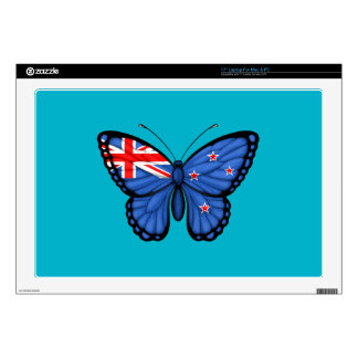 New Zealand Butterfly Flag Laptop Decal