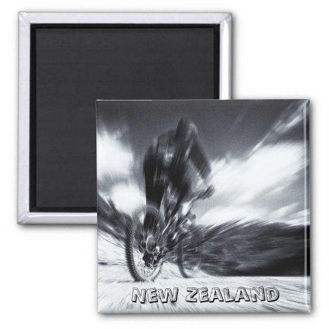 New Zealand, Cape Reinga BW (Fridge Magnet)