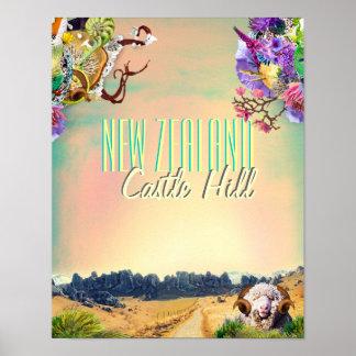 New Zealand Castle Hill rocks Poster
