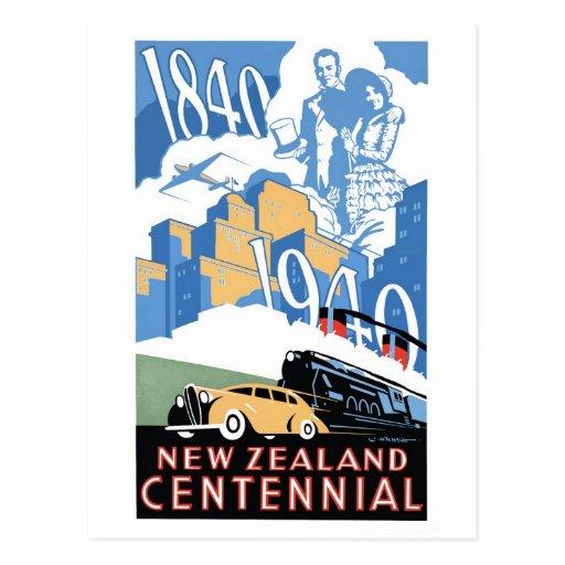 New Zealand Centennial Postcard
