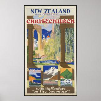 New Zealand Christchurch Poster