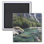 New Zealand, Cleddau River by Milford Road, near 2 Inch Square Magnet