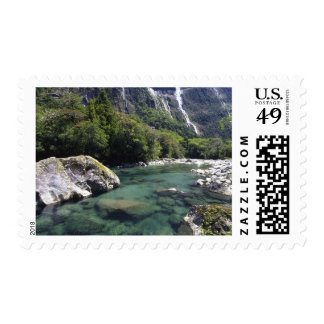 New Zealand, Cleddau River by Milford Road, near Postage