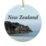 New Zealand Coast Ceramic Ornament