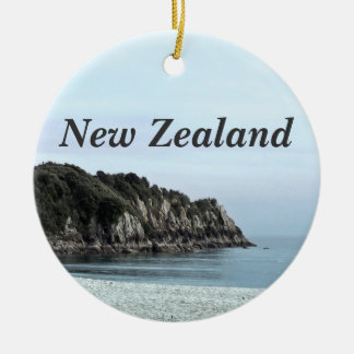 New Zealand Coast Double-Sided Ceramic Round Christmas Ornament