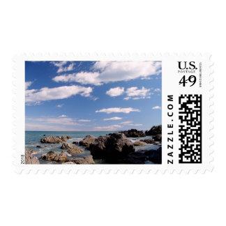 New Zealand Coast Postage Stamp