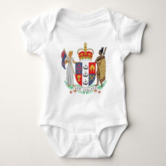 New Zealand Coat Of Arms Baby Bodysuit