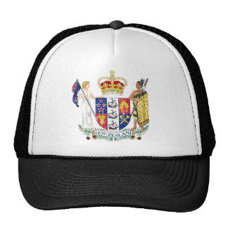 New Zealand Coat Of Arms Trucker Hat