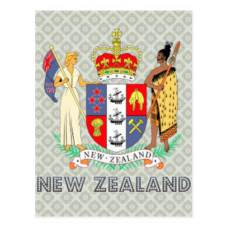 New Zealand Coat of Arms Postcard