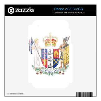 New Zealand Coat Of Arms iPhone 3 Skin