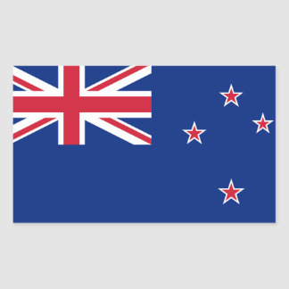New Zealand* Colorful Flag Sticker
