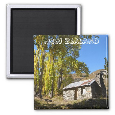 New Zealand, Cottage, Autumn (Fridge Magnet)