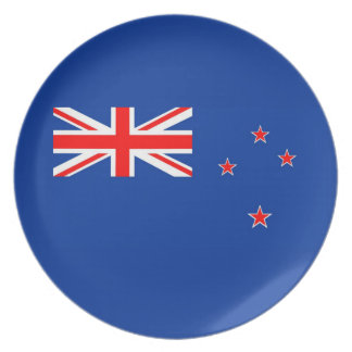 new zealand country flag plate