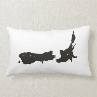 new zealand country political map flag pillow