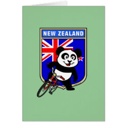 Greeting Card with New Zealand Cycling Panda design