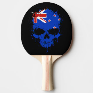 New Zealand Dripping Splatter Skull Ping-Pong Paddle