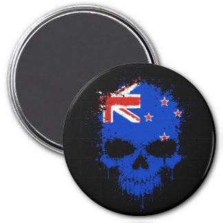 New Zealand Dripping Splatter Skull Refrigerator Magnet
