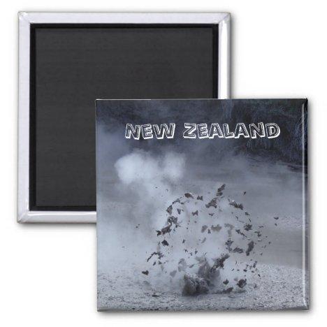 New Zealand - Exploding Mud (Fridge Magnet)
