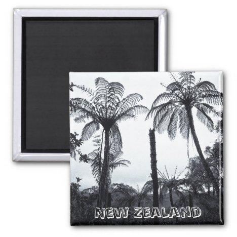 New Zealand, Fern Tree Forest (Fridge Magnet)