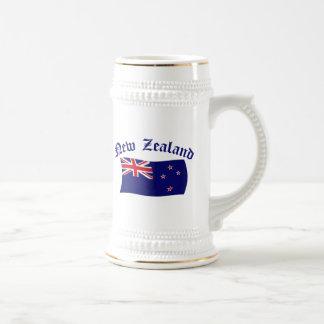 New Zealand Flag - 1 18 Oz Beer Stein