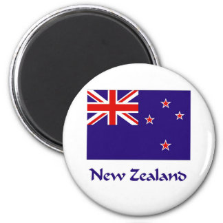 New Zealand Flag 2 Inch Round Magnet