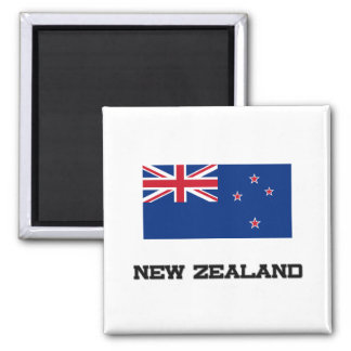 New Zealand Flag 2 Inch Square Magnet