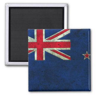 New Zealand Flag Aged Steel Effect Fridge Magnet