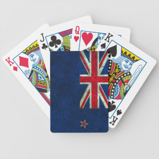 New Zealand Flag Aged Steel Effect Playing Cards