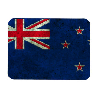 New Zealand Flag Aged Steel Effect Flexible Magnet