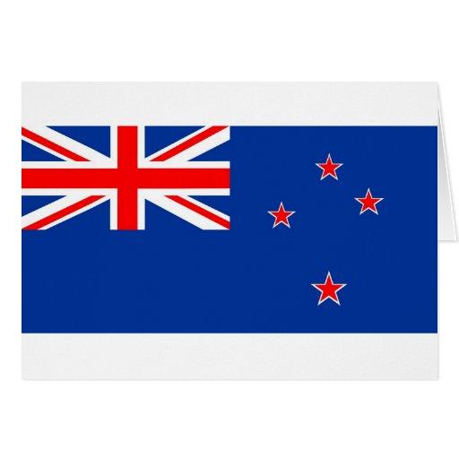 New Zealand flag Card