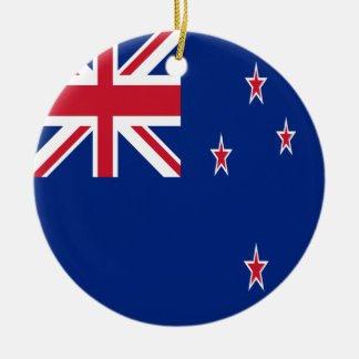 New Zealand Flag Ceramic Ornament