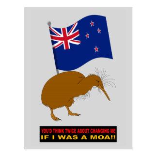 NEW ZEALAND FLAG CHANGE POSTCARD