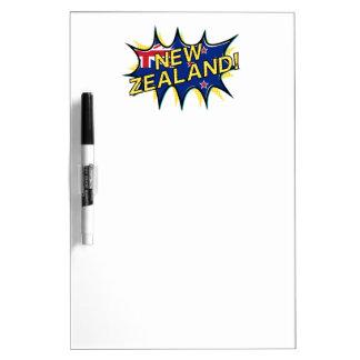 New Zealand flag comic style kapow star Dry Erase Board