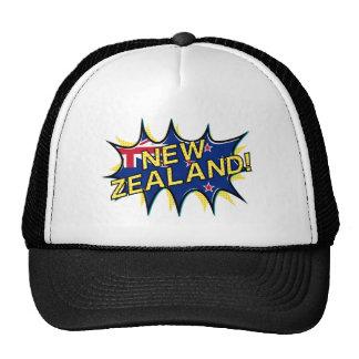New Zealand flag comic style kapow star Trucker Hat