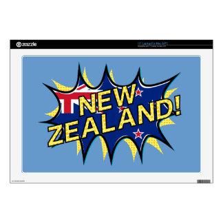 New Zealand flag comic style kapow star Laptop Decal