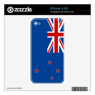 New Zealand flag Decal For iPhone 4S
