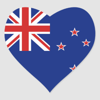 New Zealand Flag Heart Sticker