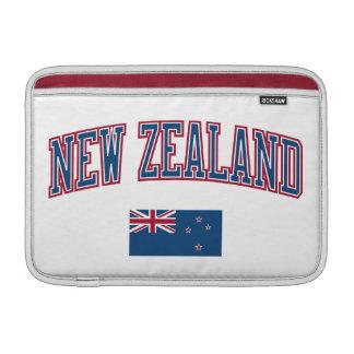 New Zealand + Flag MacBook Sleeve
