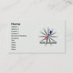 New zealand business cards zazzle new zealand flag map 20 business card reheart Gallery