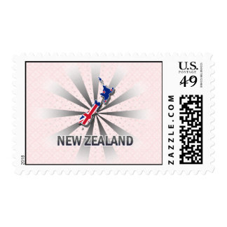 New Zealand Flag Map 2.0 Stamp