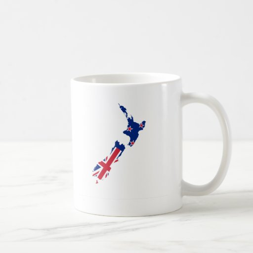 New Zealand flag map Classic White Coffee Mug