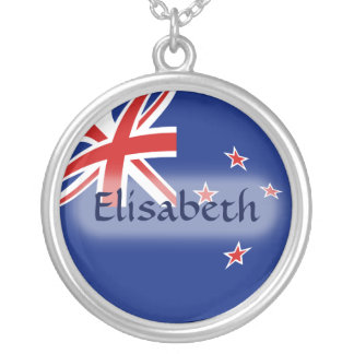 New Zealand Flag + Name Necklace