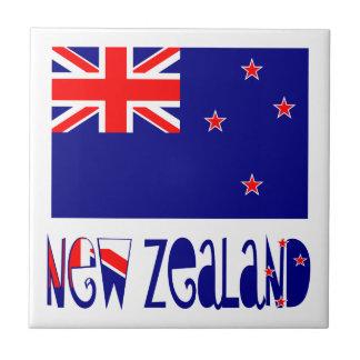 New Zealand Flag & Name Tile