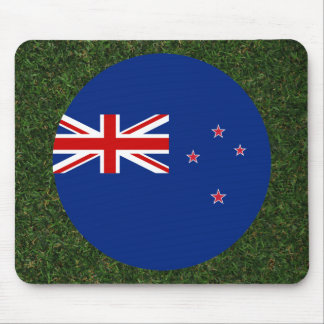 New Zealand Flag on Grass Mouse Pad