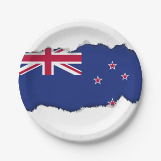 New Zealand Flag Paper Plate