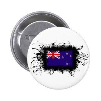 New Zealand Flag Pinback Button