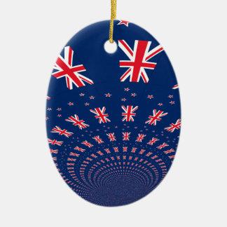 New Zealand flag.png Ceramic Ornament