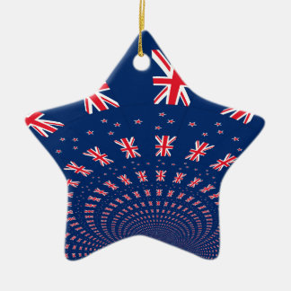 New Zealand flag.png Ceramic Ornament